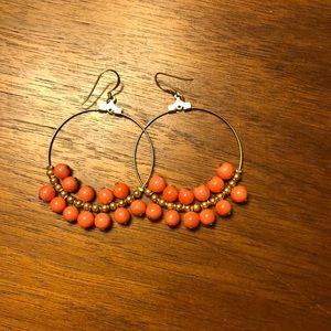 Kenneth Jay Land Beaded Hoop Earrings